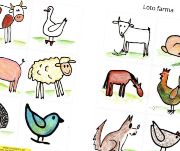 Loto domácí zvířata je ideální první hrou pro vaše děti.