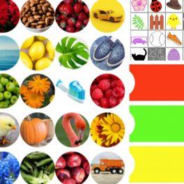 Ukazka ze souboru prirazovani barvy - vidime fotky a obrázky barevných předmětů