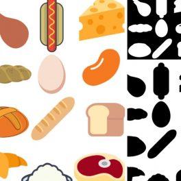 Ukázka hry přiřazování stíny jídlo