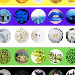 Procvičujte barvy, 10 základních barev s obrázky.