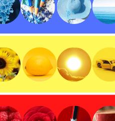 učíme se barvy - modrou žlutou, červenou a zelenou.