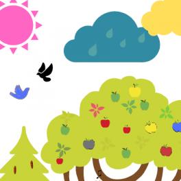 V ukázce souboru co pastelky popletly najdete třeba růžové sluníčko, modré jablko nebo modrého ptáčka.