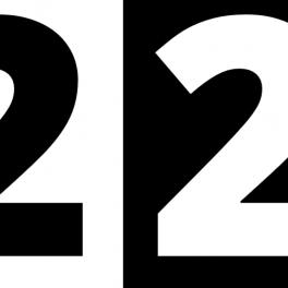 černobílé kontrastní číslice