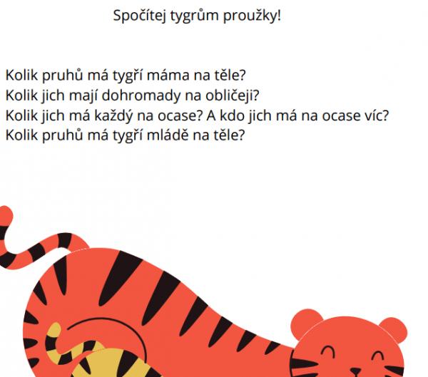 ukázka ze souboru počítej do patnácti - aktivita spočítej tygrům proužky