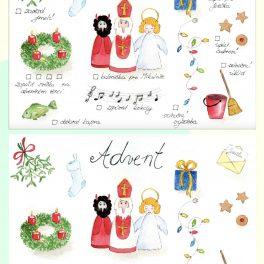 aktivity a obrázky na téma advent