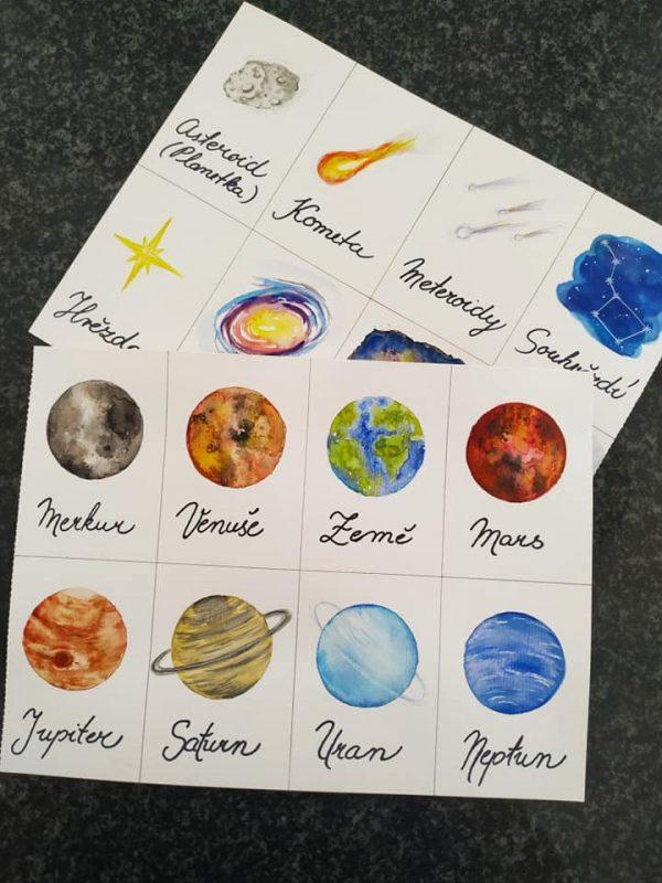vesmír, obrázek, cesta, sluneční, soustava, malovat, planety, vesmírné objekty