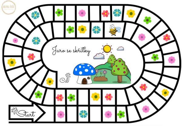 Jaro, skřítky, skřítek, hra, barvy, figurky, kostka