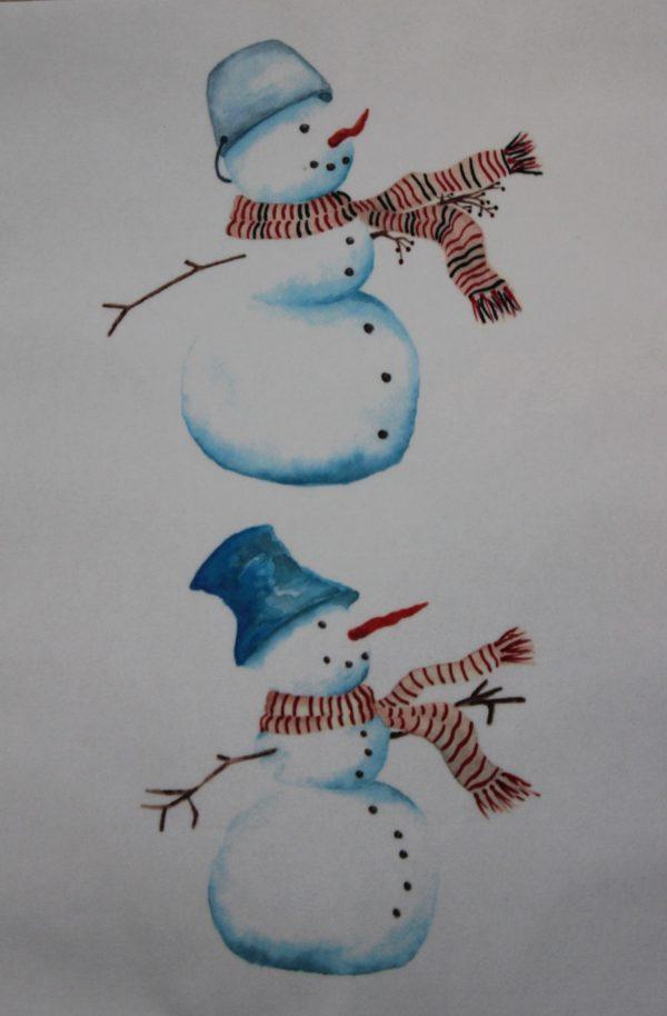 Sněhulák, sněhuláci, rozdíl, rozdíly, hledej, najdi, zima, klobouk, hrnec, hlava