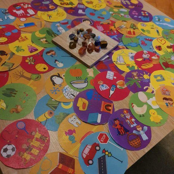 hra, hrát si, trable, 60, koleček, dvojice, hráč, otočit, kolečko, úkol, říct, větu, všechny, obrázky, kolečka, kolečko, kamínek, kamínky