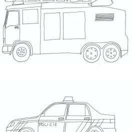omalovánky, dopravní, prostředky, auta, auto, jezdit, černobílé, barvy, vybarvit