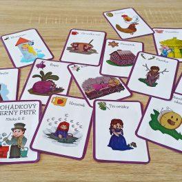 Pohádka, pohádkový, Černý, Petr, hra, hrát, karta, karty, obrázky, barva, barevný, barevné, procvičení, cvičení, řeč, R, Ř