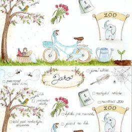 Malované, jarní, aktivity, jaro