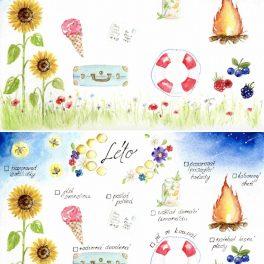 Malované, letní, aktivity, léto