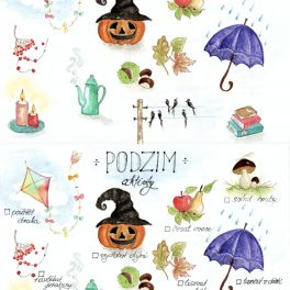 Malované, podzimní, aktivity, podzim
