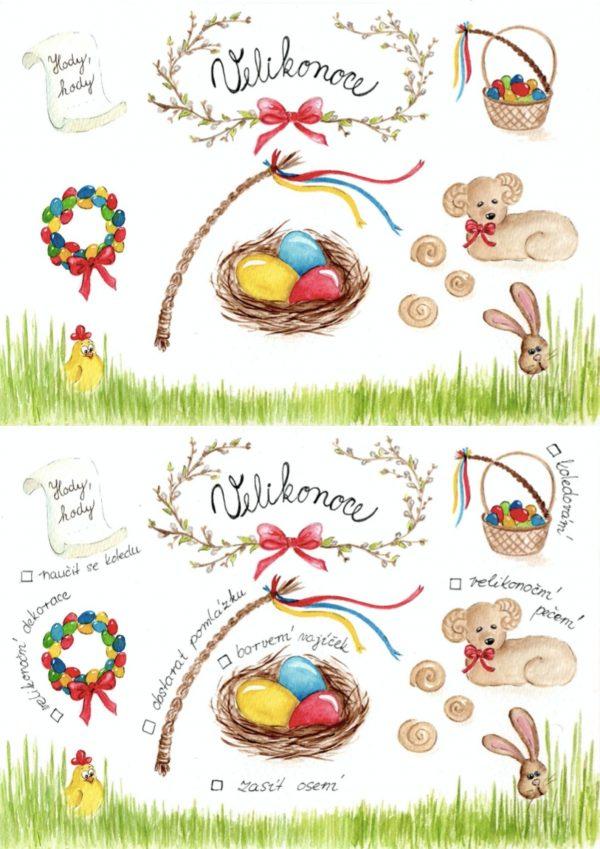 Malované, jarní, aktivity, jaro, Velikonoce, velikonoční