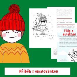 Filip, oblékání, obléct se, chlapečkovi, chlapeček, nechtěl se, teple, obléknout, obrázky, hrát si, tipy, pro, rodiče, omalovánka, příběh
