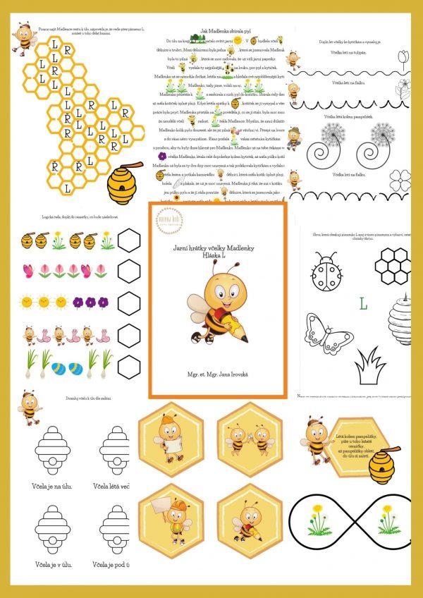 Jarní, hrátky, včelky, včelka, Madlenka, hláska, L