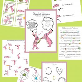 Velikonoční, hrátky, zajíčka, Růžováčka, zajíček, zvíře, ha, hry, aktivity