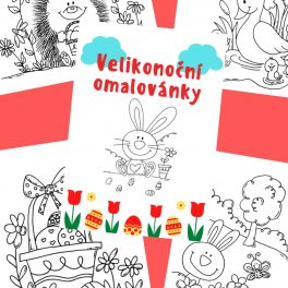 Velikonoční, Velikonoce, omalovánky, omalovánka, autorská, kresba, kreslit, barvit, barva, vybarvit, vymalovat