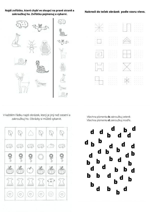 pracovní, listy, list, zrakové, vnímání, zrak, oči, vnímat, děti, hra, hry, hrát si, aktivity