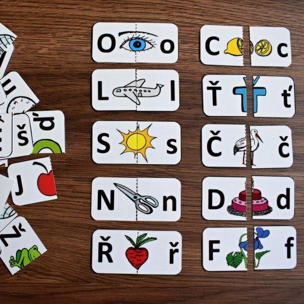 abeceda, a, b, c, d, skládanky, obrázky, složit, skládat, obrázek, barvy