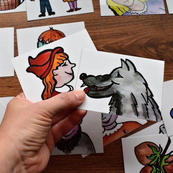 přiřazování, řazení, pohádek, pohádka, pohádky, kočička, kočka, pejsek, Karkulka, obrázek, obrázky, kreslit, malovat