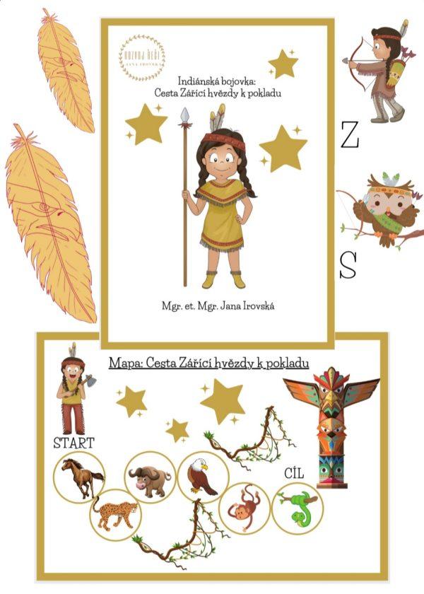 Indiánská, bojovka, Cesta, Zářící, hvězdy, k, pokladu. pdf