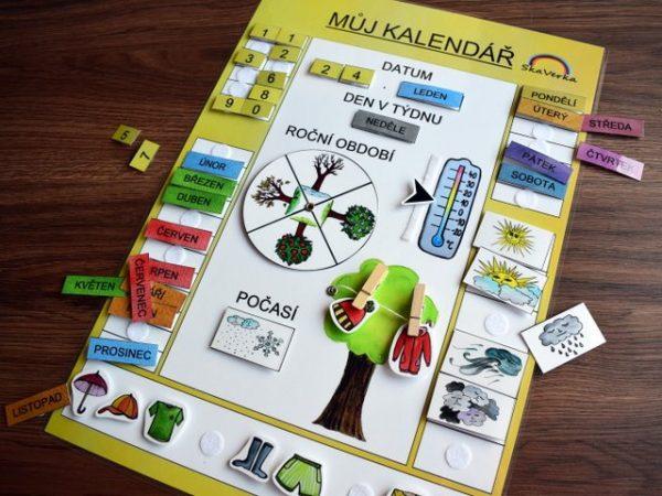 Můj, kalendář, žlutá, varianta, obrázek, obrázky