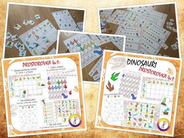 Dinosauří, prostorovka, 4V1, dinosaurus, obrázek, obrázky, zvíře, zvířátko