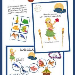 Havajská, bojovka, Lili, květinové, náhrdelníky, dobrodružství, děti, hrát si, spolu, květina, náhrdelník
