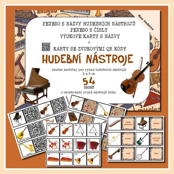 Hudební, nástroje, 4 v 1, zvukové, karty, 54, druhů, hudba, nástroj, hrát, na, obrázek, obrázky, barevný, barevné, barva, barvy