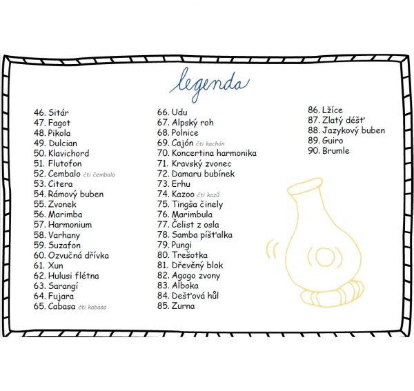 Hudební, nástroje, 90, osmisměrek, omalovánky, hudba, hra, hrát, hrát si