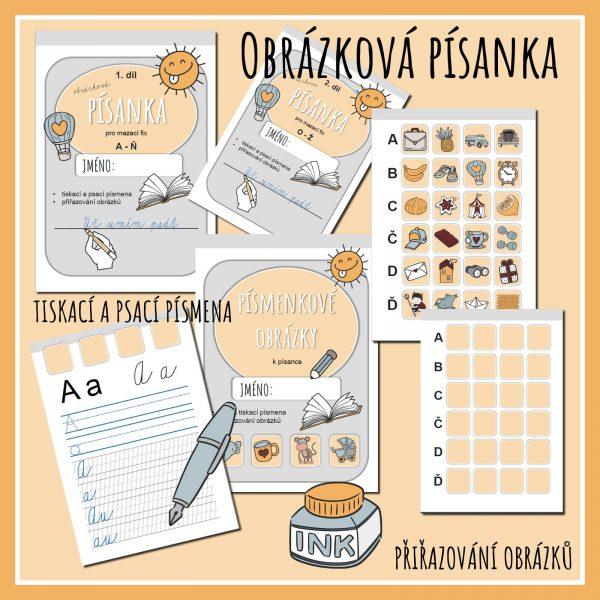 Obrázková, písanka, psát, napsat, písmo, obrázek, obrázky, barva, barvy