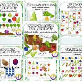 ovoce, nebo, zelenina, ovocný, zeleninový, obrázek, obrázky, obrázkový, jahoda, banán, borůvka, pomeranč, hrách, paprika, cibule, kukuřice, ředkev, brambor