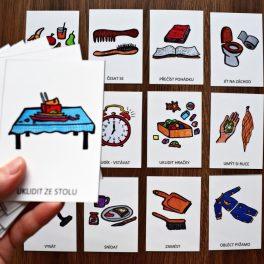 Můj, den, karty, které, usnadňují, režim, dne,