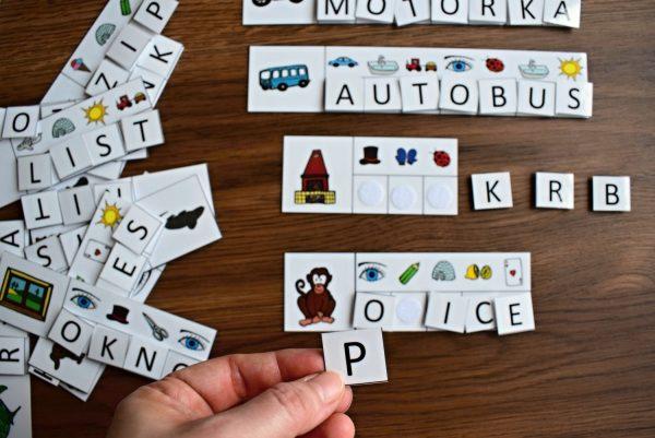 Obrázkové, čtení, číst, obrázek, obrázky, slova, písmena, slabiky
