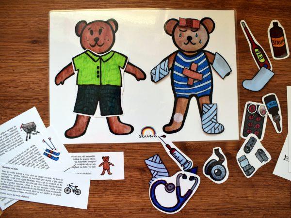 Ošetřování, medvídka, ošetření, medvídek, medvěd, zvíře, zvířátko