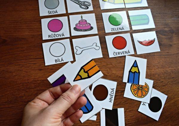 Skládanky, pastelky, oboustranné, kartičky, kartička, skládanka, pastelka, oboustranná, obě, strany
