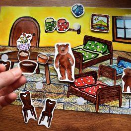 Tři, medvědi, zvířata, zvíře, obrázek, obrázky