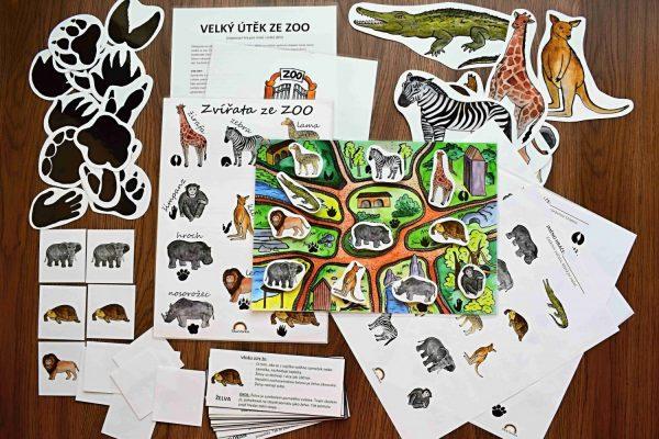 Velký, útěk, ze, Zoo, pátrací, hra
