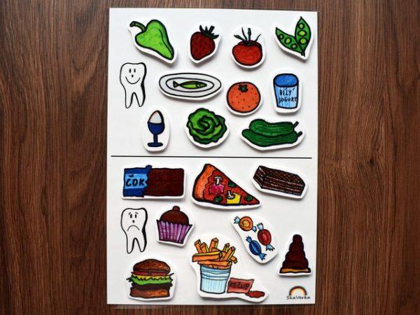 Zdravé, a, nezdravé, jídlo